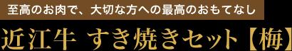 近江牛 すき焼きセット【梅】